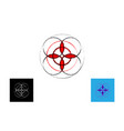 seed life symbol sacred geometry set logo icon vector image