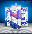 set advertisement roll up business flyers or vector image vector image