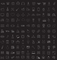Set of linear media service icons vector image vector image