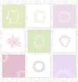 set of square cards Sketch frames hand-drawn vector image vector image