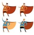 set superheroes vector image