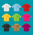 Shirts colored templates for your design in flat
