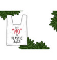 sign say no to plastic bags vector image vector image