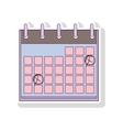 silhouette with calendar two days marked vector image vector image