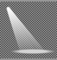 spotlight on transparent background eps10 vector image
