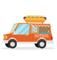 street food van fast food delivery vector image vector image