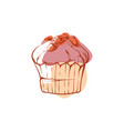 tasty muffin isolated icon vector image vector image