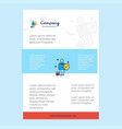 template layout for employee comany profile vector image