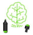 tree and green marker vector image