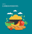 useful carbohydrates flat style design vector image vector image