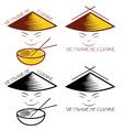 Vietnamese cuisine vector image vector image