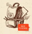 Vintage hand drawn back to school vector image vector image