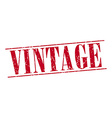 vintage red grunge vintage stamp isolated on white vector image vector image