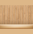 wooden empty shelf blank table or workbench vector image