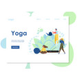 yoga website landing page design template vector image