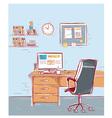 Sketchy color of office interior room vector image
