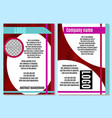 abstract brochure on red with white bright vector image