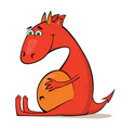 small red dragon vector image