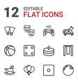 12 fun icons vector image vector image