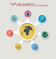 abstract business circle infographics vector image vector image