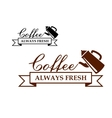 Always Fresh Coffee icon or label vector image vector image
