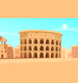 ancient rome background vector image