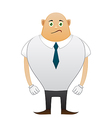 Bald sorrow office man vector image