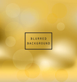 Blurred abstract gradient background gold vector image vector image