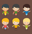 boy portrait fun happy young expression cute vector image vector image