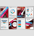 business brochure template abstract concept vector image vector image