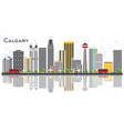 calgary canada city skyline with gray buildings vector image vector image
