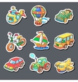 cartoon collection transportation - colored vector image vector image