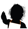 child happy silhouette happines vector image vector image