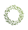 circle round green leaf abstract logo vector image vector image