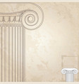 classic columns background roman engraving vector image