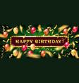 congratulatory banner happy birthday vector image