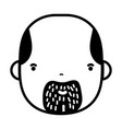 contour avatar man head with beard design vector image