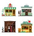 cool set detailed flat design city public vector image vector image