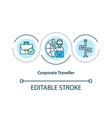 corporate traveller concept icon vector image vector image