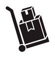 delivery box cart icon simple style vector image