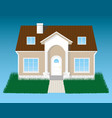 detailed house with grass vector image