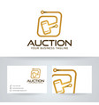 digital auction logo template vector image vector image