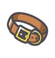 dog collar leather icon cartoon vector image