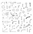 Doodle arrows vector image