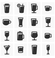 Drink icons set vector image