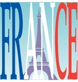 Eiffel tower and French flag vector image vector image