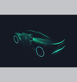 electric concept car green glowing silhouette