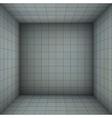 empty futuristic room with blue gray walls vector image vector image