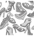 Fashion shoes seamless pattern for girls vector image vector image