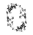 floral plant pattern frame vector image